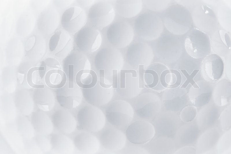 CLose up of a Golf Ball texture by macro lence and special tube, stock photo