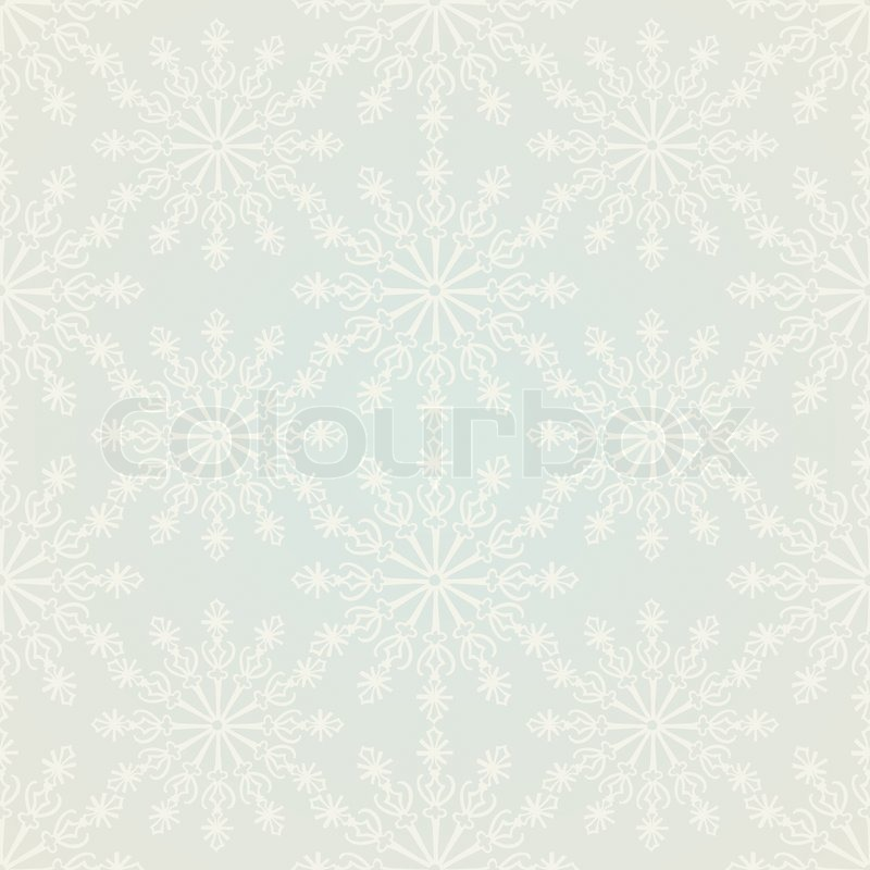 Christmas And New Year Festive Vintage Background Xmas Snowflakes On Old Style Wallpaper Retro Seamless Pattern Beautiful Winter Art Fabric