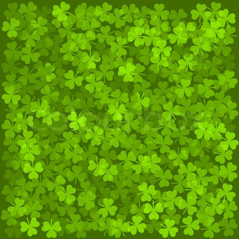 Clover Leaves Background Green Texture Vector
