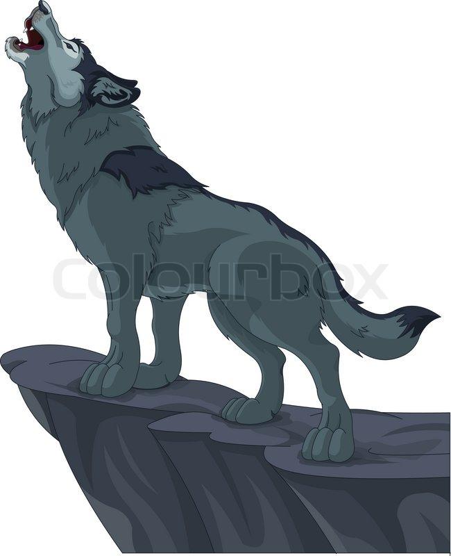 Howling wolf | Vektorgrafik | Colourbox