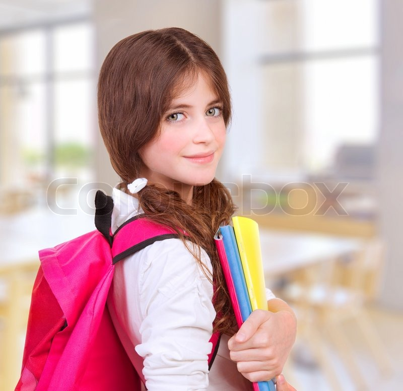 Side view of cute teen girl standing in classroom with Cute teenage girls pics