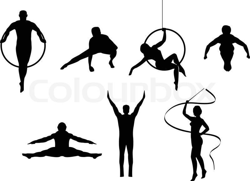 Gymnastikball Silhouetten Vektorgrafik Colourbox