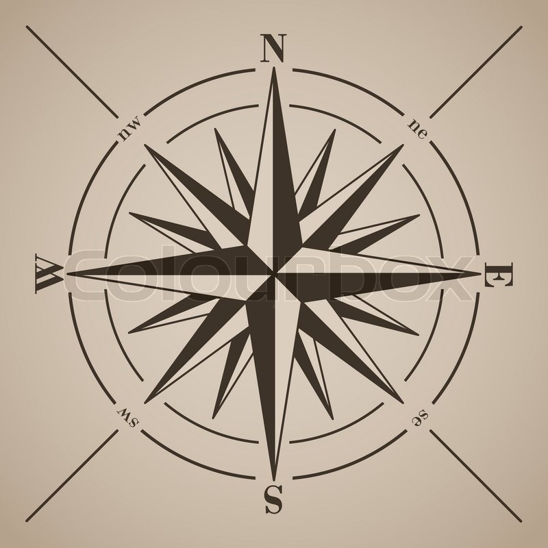 compass rose vektor illustration vektorgrafik colourbox. Black Bedroom Furniture Sets. Home Design Ideas