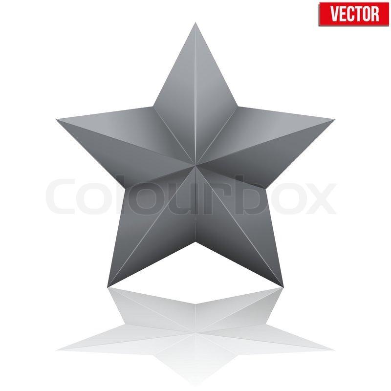 Schwarzer fünfzackiger Stern. Vektor-illustration | Vektorgrafik ...