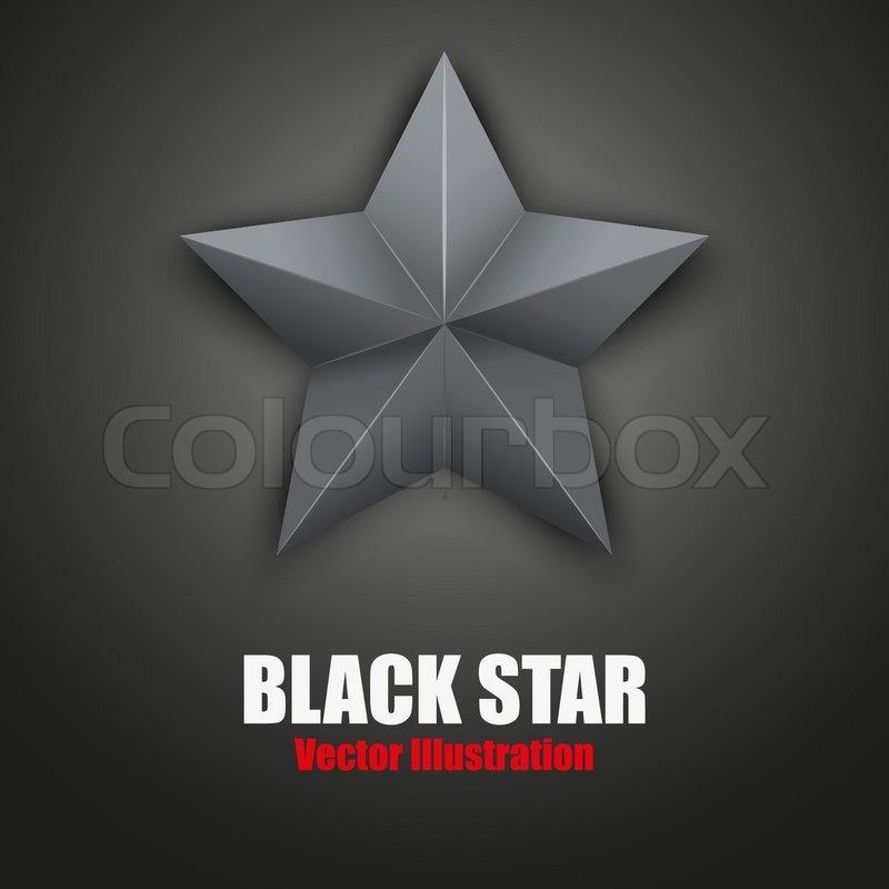 Hintergrund des schwarzen fünfzackigen Stern. Vektor-illustration ...