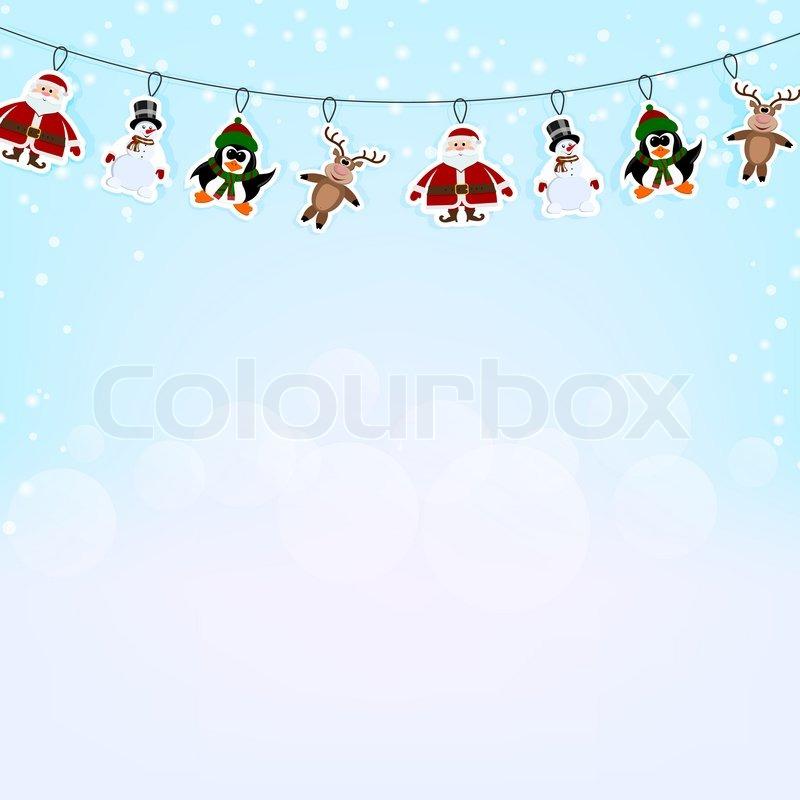 weihnachten blauer hintergrund mit einer girlande von. Black Bedroom Furniture Sets. Home Design Ideas