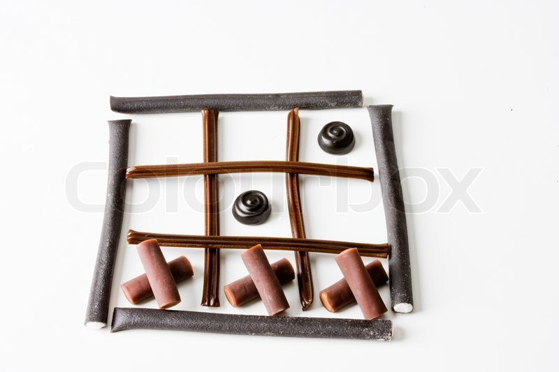 Stock image of 'Licorice as tick-tack-toe'