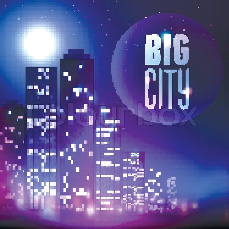 Cartoon City Skyline City Skyline With Skyscraper