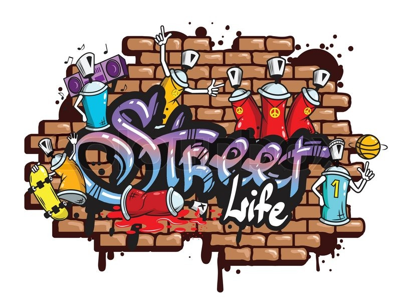 World Of Dance Font: Decorative Urban World Youth Street Life Graffiti Art