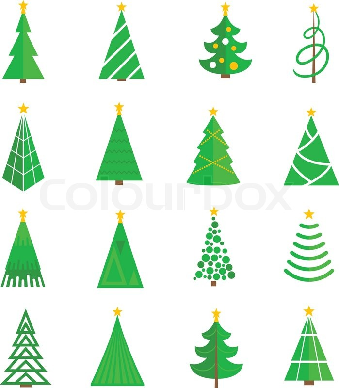 Christmas Tree Icon.Christmas Tree Celebration Holiday Stock Vector
