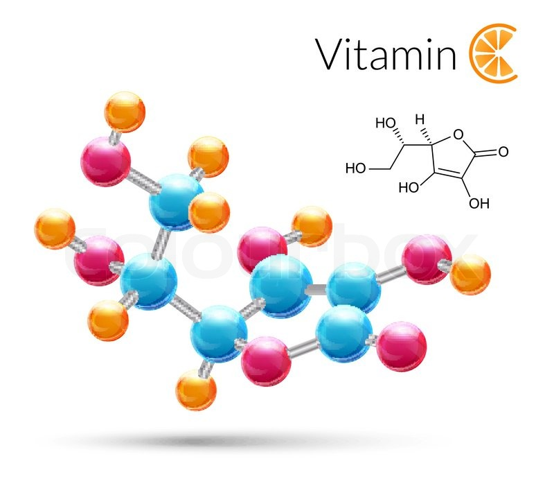 Vitamin c 3d molecule chemical science atomic structure poster vitamin c 3d molecule chemical science atomic structure poster vector illustration stock vector colourbox ccuart Images