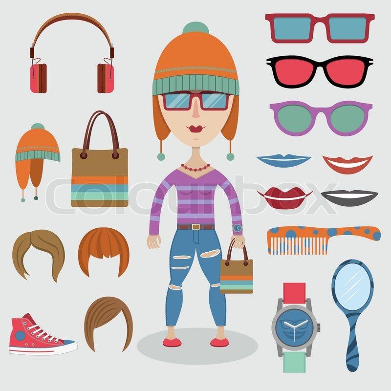 Hipster Design Elements Fashion Design Elements