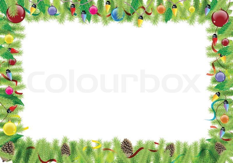 christmas boarder stock vector colourbox