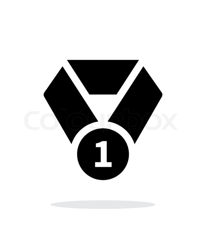 first place medal seample icon vector illustration
