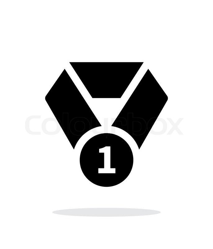 erster platz medaille seample symbol vektorgrafik