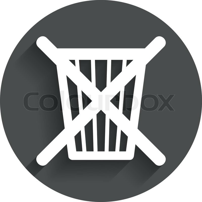 Do Not Throw In Trash Recycle Bin Sign Icon Circle Flat Button