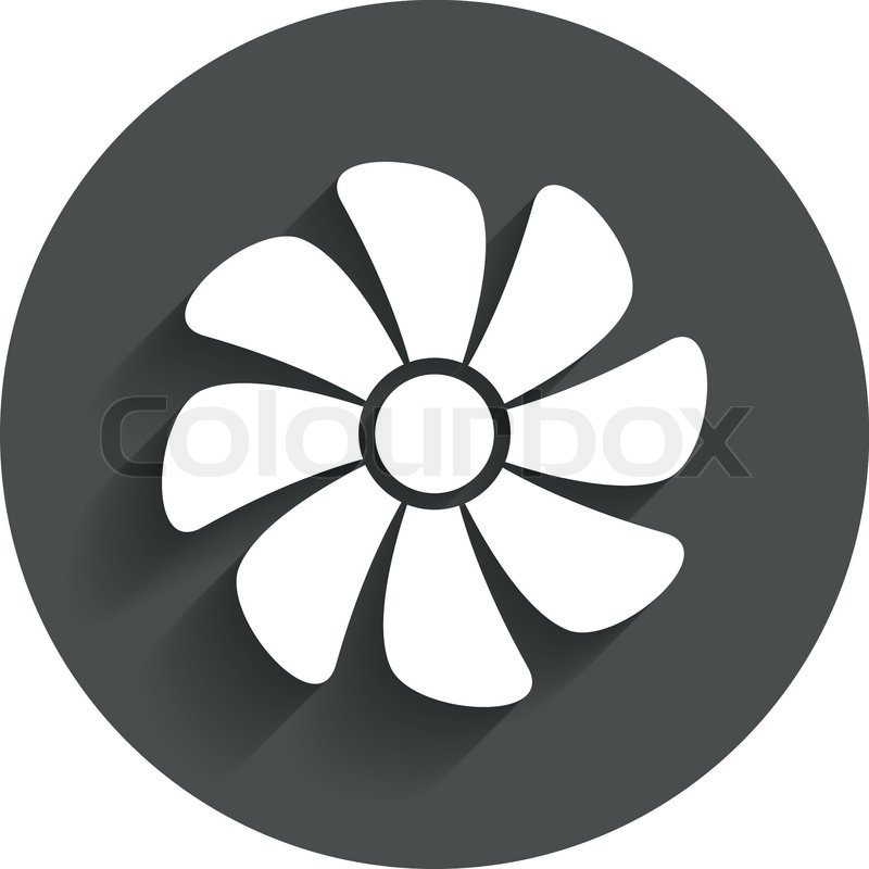 Exhaust Fan Symbol : Ventilation sign icon ventilator symbol circle flat