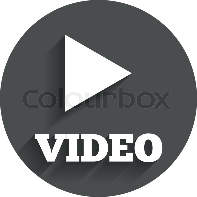 Play Video Sign Icon Player Navigation Symbol Circle Flat Button