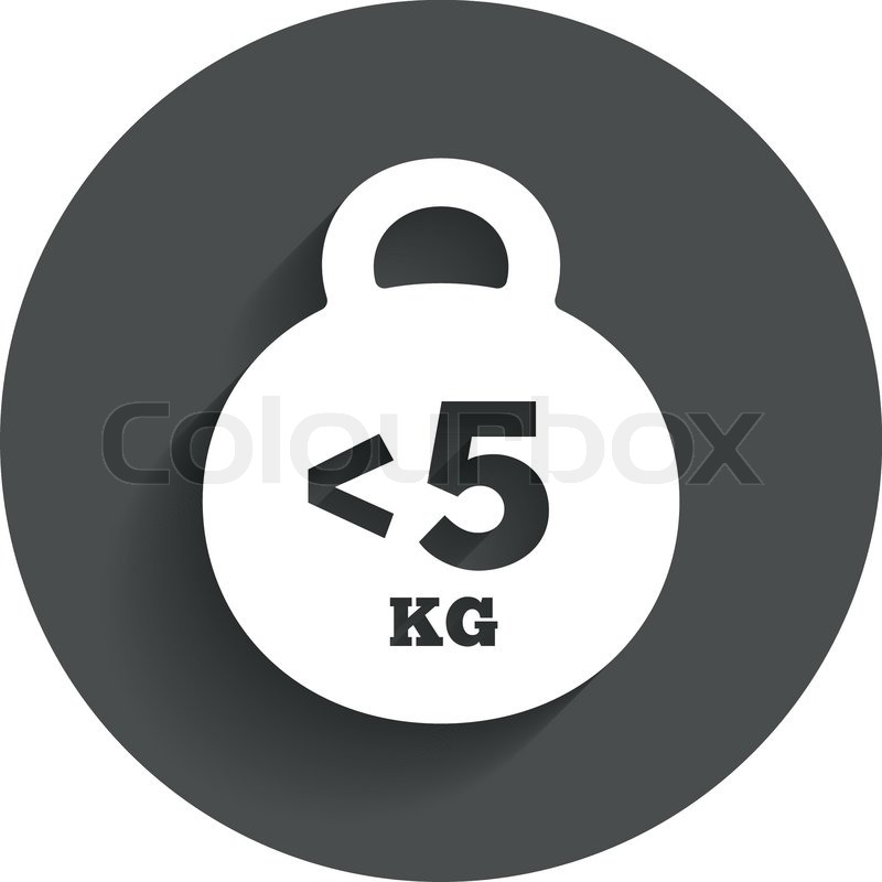 Weight Sign Icon Less Than 5 Kilogram Kg Sport Symbol Fitness
