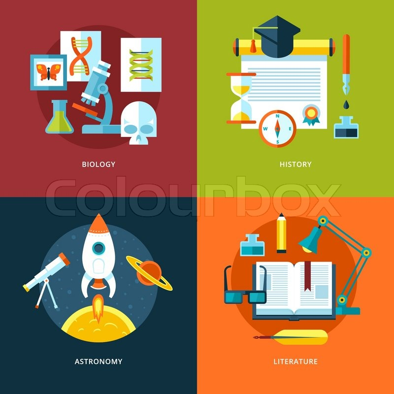 Vektor icons f r schule und bildung set f r webdesign und for Schule fur mode und design