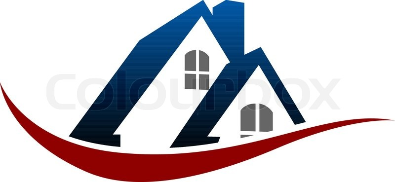 Haus Dach Symbol, Stock Vektor