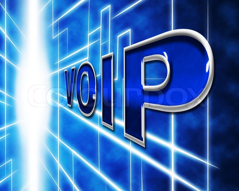 Telephony Voip Representing Voice Over Broadband And Communication, stock photo