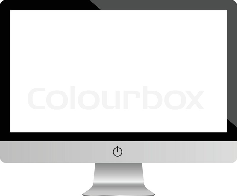Computer Display Monitor. Highly Detailed Responsive