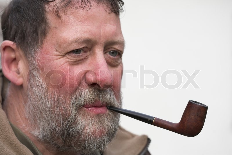 man with pipe stock photo colourbox