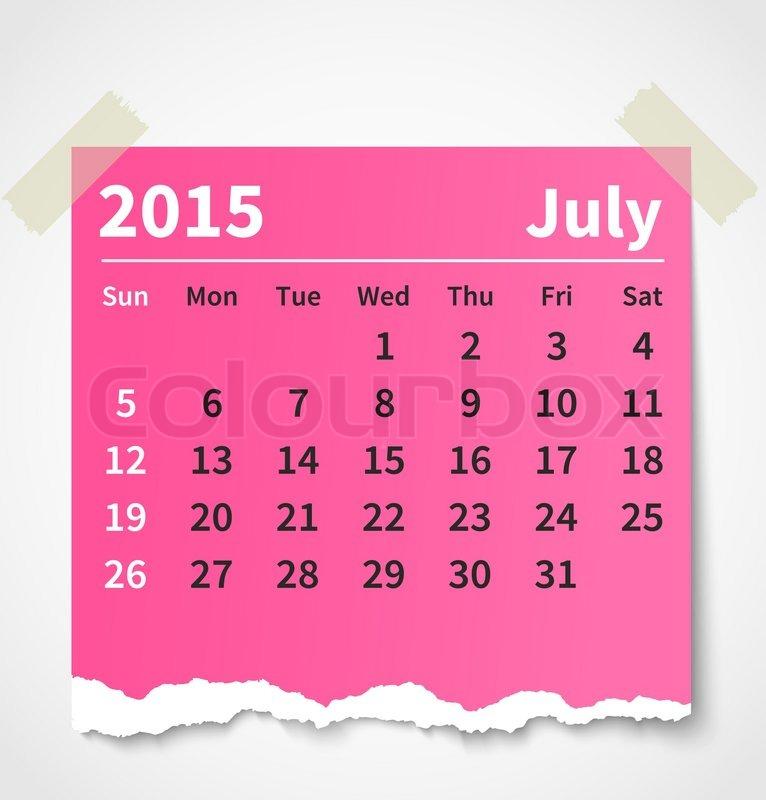 calendar 2015 july