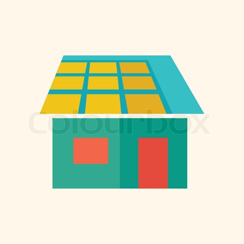 Solar Energy Ecology Icon Flat Stock Vector