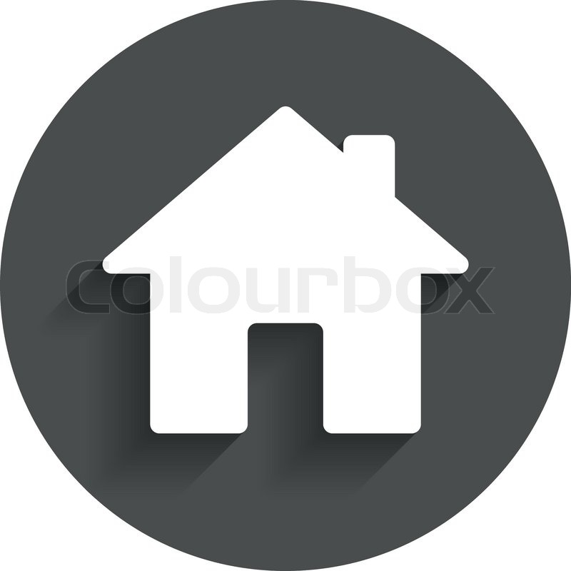 Home Sign Icon Main Page Button Navigation Symbol Circle Flat