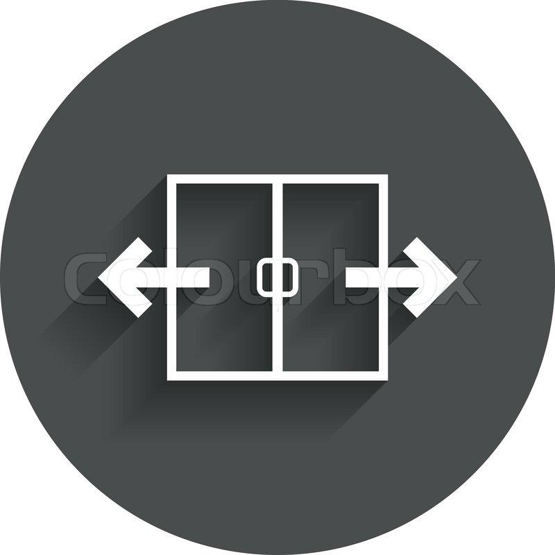 Automatic Door Sign Icon Auto Open Stock Vector Colourbox