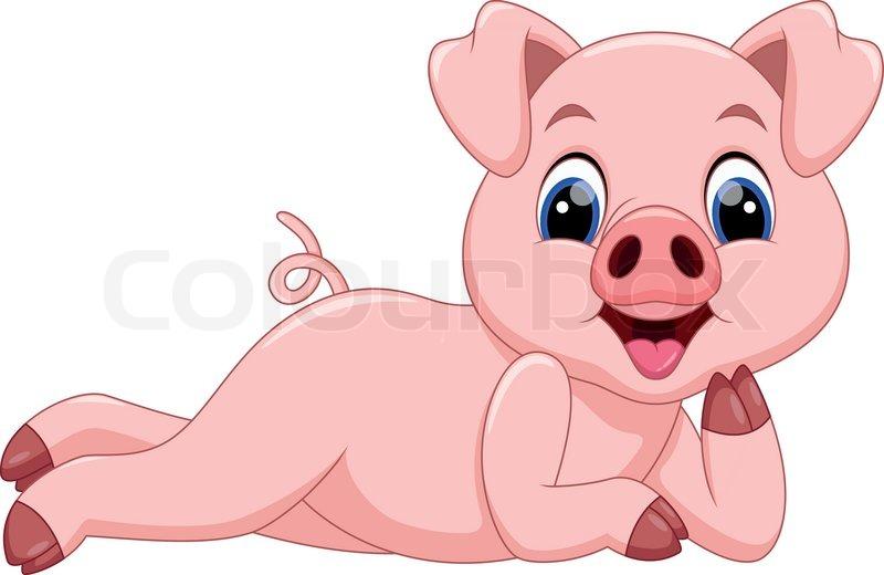 cartoon pigs are cute and adorable stock vector colourbox barnyard roundup clipart barnyard clip art