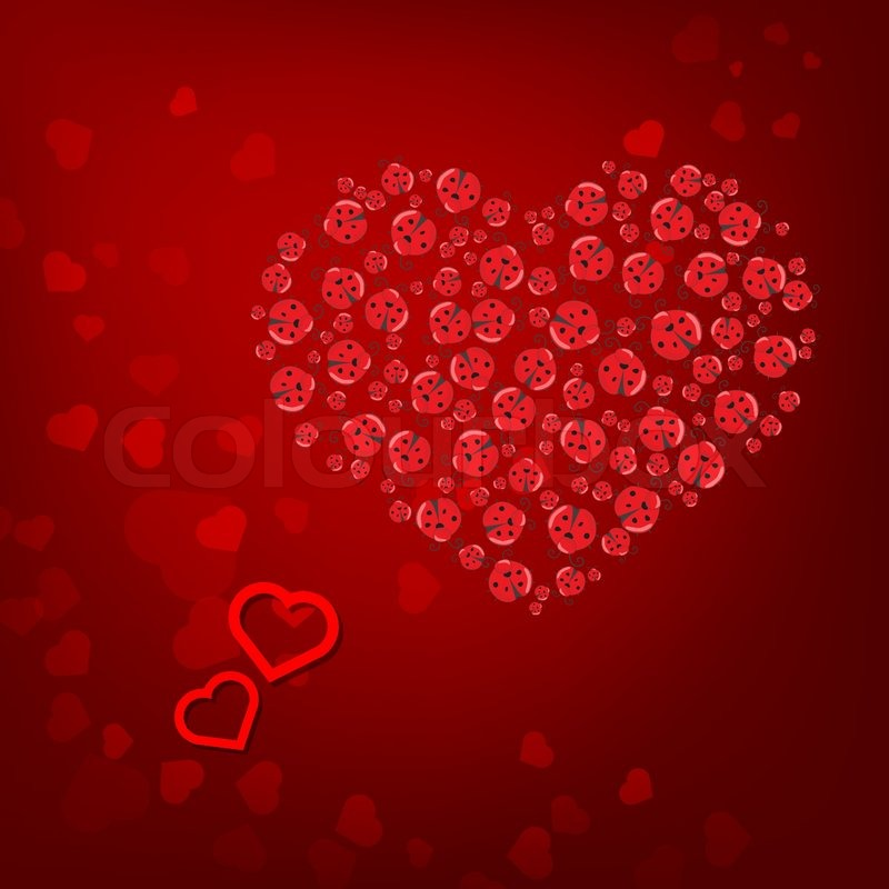 St. Valentine'-s Day Red Heart Background Royalty Free Stock ...