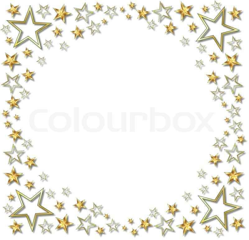 GOLD STAR BOARDER | Stock Vector | Colourbox