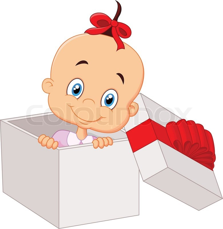 Image result for new baby present cartoon