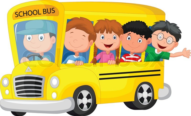 Image result for school bus cartoon image