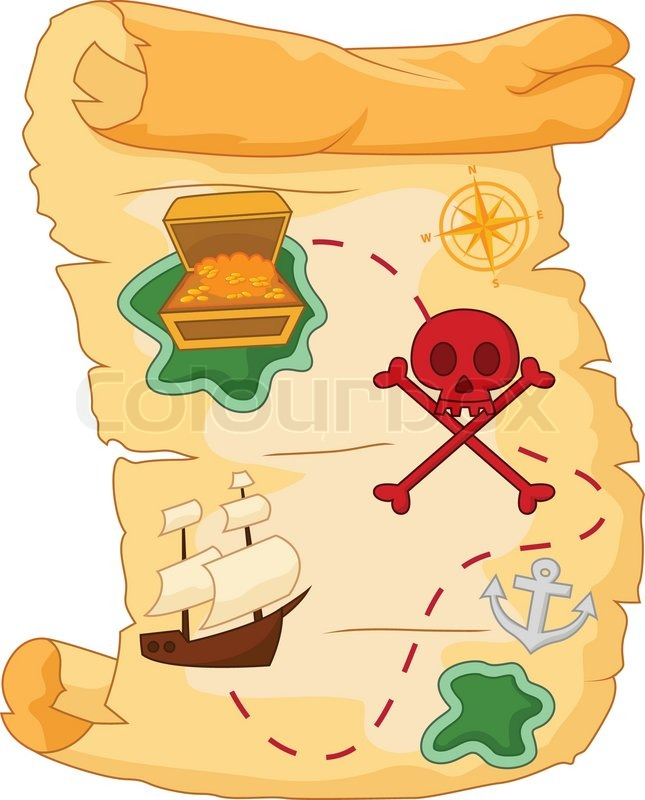 vector illustration of cartoon treasure map stock vector colourbox rh colourbox com treasure map background vector free download treasure map background vector free download