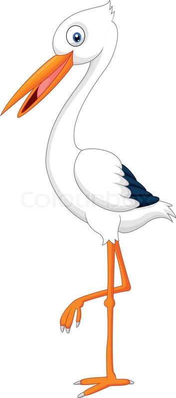 Storch Gezeichnet