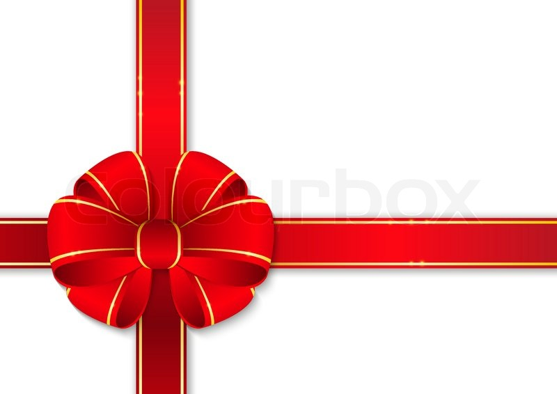 Packaging with a red ribbon with a bow vector illustration stock red gift ribbon with bow negle Choice Image