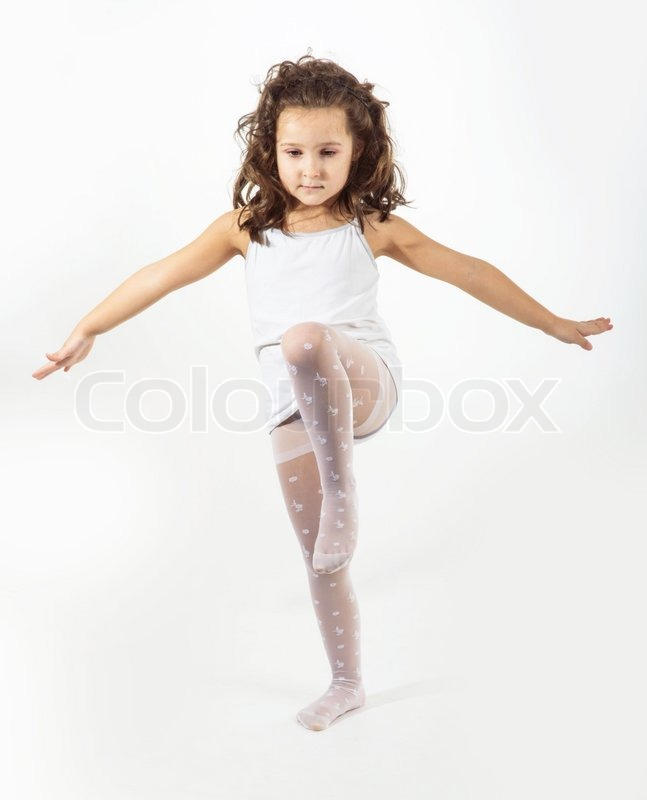 Beautiful Girl Isolated On White Background Stock Photo