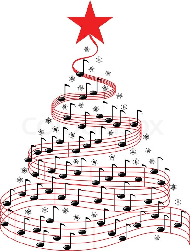 christmas music tree stock vector colourbox. Black Bedroom Furniture Sets. Home Design Ideas