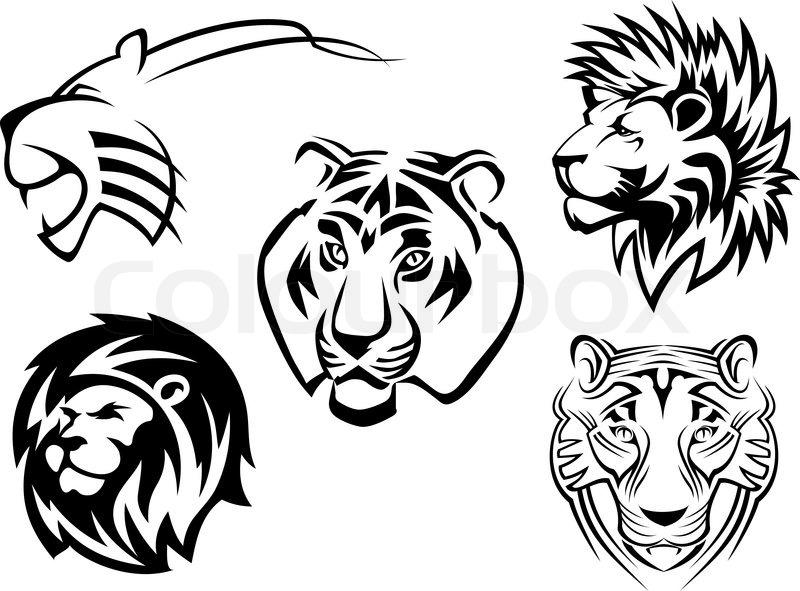 Tiger Tattoo Stock Vector Image Of Tattoo Cruel Wildlife