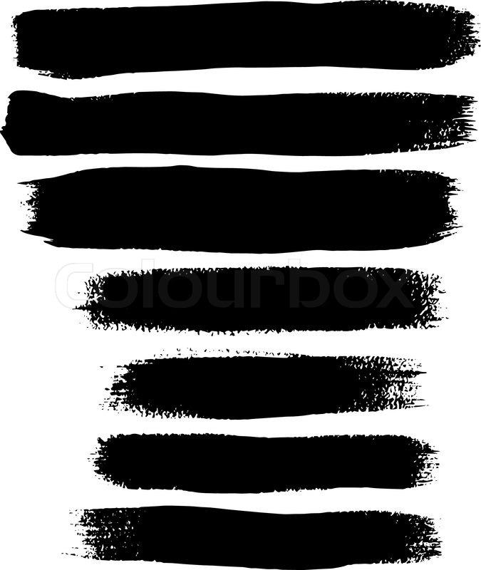 black ink vector brush strokes stock vector colourbox rh colourbox com brush stroke vector background brush stroke vector download