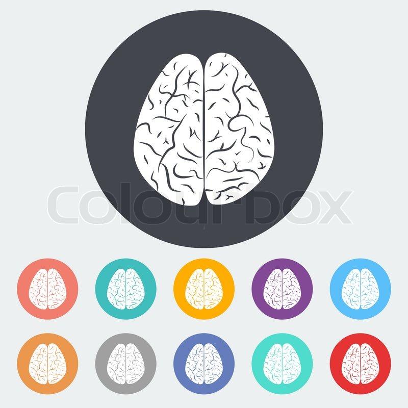 flat brain icon - photo #11