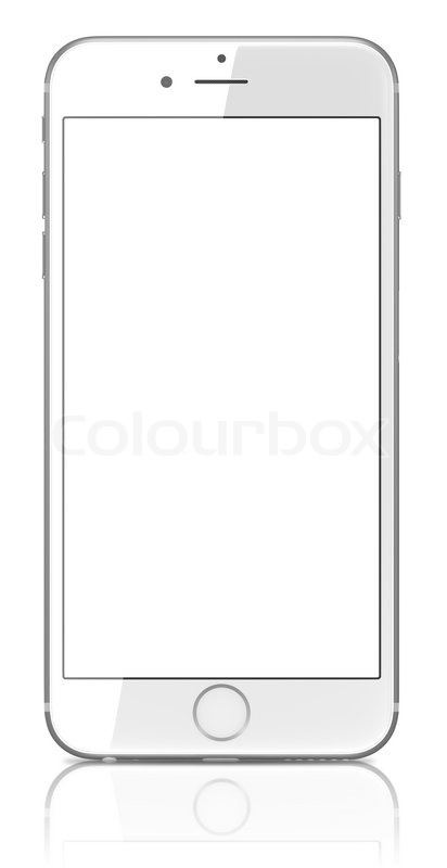 iphone screen template new silver smartphone with blank screen on white 12295