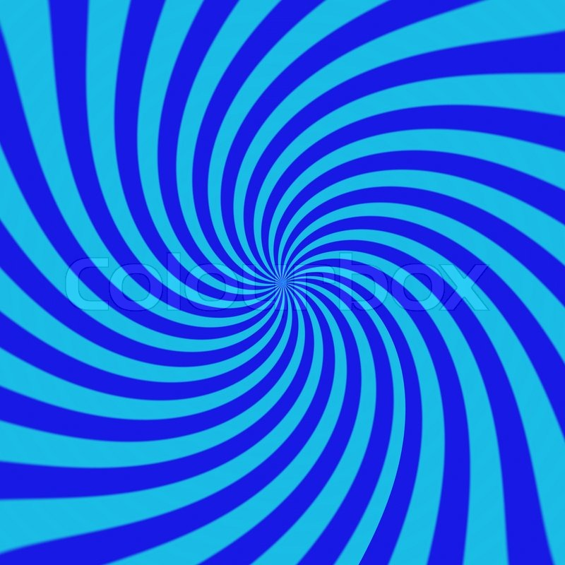 Blue Swirl Sunburst Background Stock Photo
