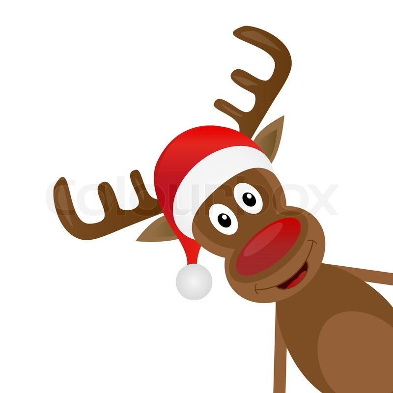 Christmas Reindeer On A White Stock Vector Colourbox