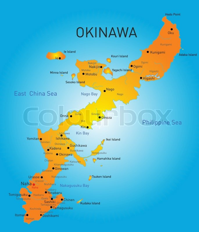 Vector color map of okinawa japan stock vector colourbox gumiabroncs Images
