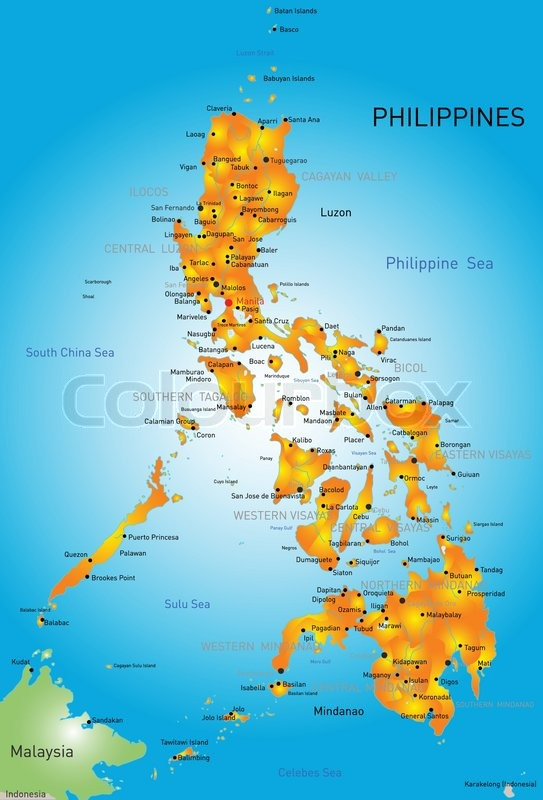 vector color map of philippines stock vector colourbox